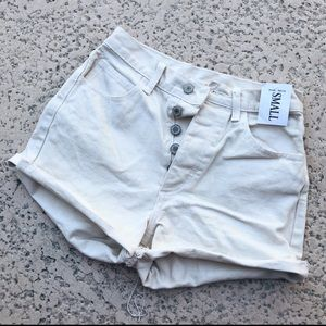 White brandy Melville high waisted shorts